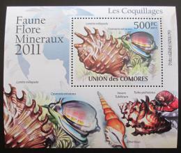 Poštovní známka Komory 2011 Mušle DELUXE Mi# 2960