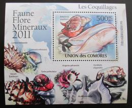 Poštovní známka Komory 2011 Mušle DELUXE Mi# 2962