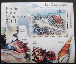 Poštovní známka Komory 2011 Mušle DELUXE Mi# 2963