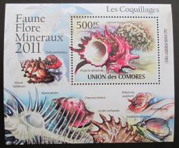 Poštovní známka Komory 2011 Mušle DELUXE Mi# 2959