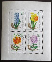 Poštovní známky Maïarsko 1963 Kvìtiny Mi# Block 39