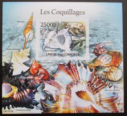 Poštovní známka Komory 2011 Mušle neperf. Mi# Block 616 B