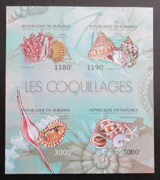 Poštovní známky Burundi 2012 Mušle neperf. Mi# 2753-56 B