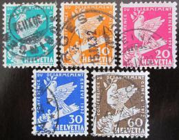Poštovní známky Švýcarsko 1932 Holubice Mi# 250-54 Kat 14€