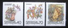 Poštovní známky Lichtenštejnsko 1983 Kostýmy Mi# 818-20