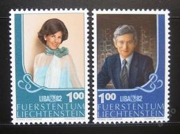 Poštovní známky Lichtenštejnsko 1982 LIBA výstava Mi# 797-98