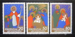 Poštovní známky Lichtenštejnsko 1981 Vánoce Mi# 788-90