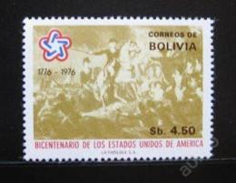 Poštovní známka Bolívie 1976 Americká revoluce Mi# 911