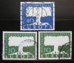 Poštovní známky Nìmecko 1957-58 Evropa CEPT Mi# 268-69,294