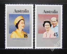 Poštovní známky Austrálie 1977 Vláda Alžbìty II. Mi# 630-31