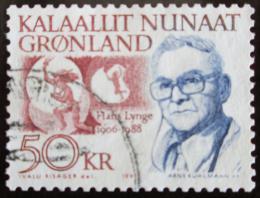 Poštovní známka Grónsko 1991 Hans Lynge, spisovatel Mi# 222 Kat 15€
