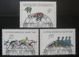 Poštovní známky Lichtenštejnsko 1987 ZOH Calgary Mi# 934-36