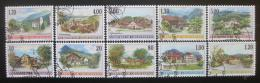 Poštovní známky Lichtenštejnsko 1996-99 Umìní, vesnice SC# 1068-77 Kat 40.50€