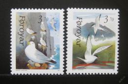 Poštovní známky Faerské ostrovy 1991 Ptáci Mi# 221-22