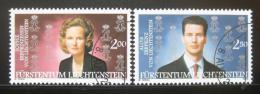 Poštovní známky Lichtenštejnsko 2002 Královský pár Mi# 1299-1300