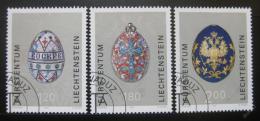 Poštovní známky Lichtenštejnsko 2001 Velikonoèní vajíèka Mi# 1259-61 Kat 12€