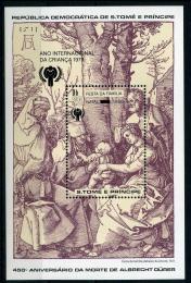Poštovní známka Svatý Tomáš 1980 Umìní, Durer Mi# Block 47 Kat 25€