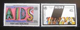 Poštovní známky OSN New York 1990 Boj proti AIDS Mi# 598-99
