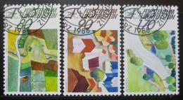 Poštovní známky Lichtenštejnsko 1988 Ochrana pøírody Mi# 939-41