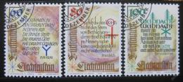 Poštovní známky Lichtenštejnsko 1993 Náboženské vánoèní texty Mi# 1073-75