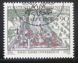 Poštovní známka Lichtenštejnsko 1996 Vyroèí vzniku Rakouska Mi# 1137