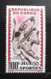 Poštovní známka Kongo 1962 Basketbal Mi# 24