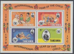 Poštovní známky Tanzánie 1979 Mezinárodní rok dìtí Mi# Block 18