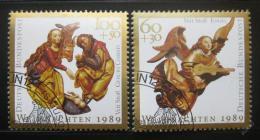 Poštovní známky Nìmecko 1989 Vánoce Mi# 1442-43