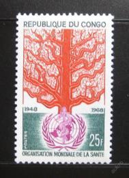 Poštovní známka Kongo 1968 Výroèí WHO Mi# 166