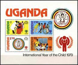 Poštovní známky Uganda 1979 Mezinárodní rok dìtí Mi# Block 16