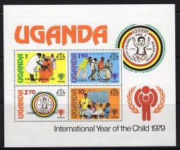Poštovní známky Uganda 1979 Mezinárodní rok dìtí, pøetisk Mi# Block 19