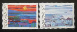 Poštovní známky Faerské ostrovy 1987 Umìní, HAFNIA Mi# 160-61