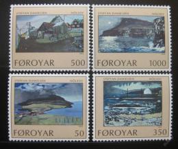 Poštovní známky Faerské ostrovy 1990 Umìní Mi# 207-10
