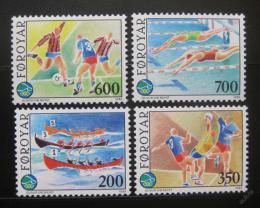 Poštovní známky Faerské ostrovy 1989 Sportovní hry Mi# 186-89