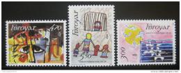 Poštovní známky Faerské ostrovy 1986 Dìtské kresby Mi# 136-38