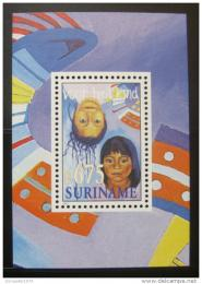 Poštovní známka Surinam 1997 Péèe o dítì Mi# Block 71
