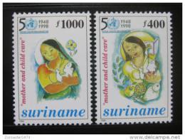 Poštovní známky Surinam 1998 WHO, 50. výroèí Mi# 1584-85