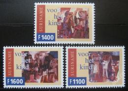 Poštovní známky Surinam 1999 Dìtské kresby Mi# 1716-18