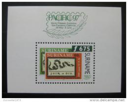 Poštovní známka Surinam 1997 Výstava PACIFIC Mi# Block 69