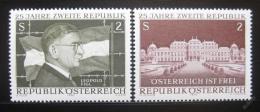 Poštovní známky Rakousko 1970 Druhá republika Mi# 1322-23
