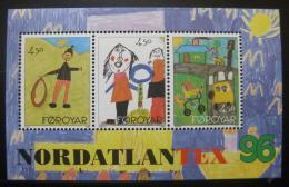 Poštovní známky Faerské ostrovy 1996 Dìtské kresby Mi# Block 8