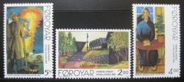 Poštovní známky Faerské ostrovy 1995 Nordické umìní Mi# 280-82