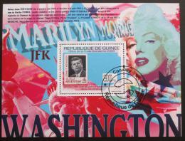 Poštovní známka Guinea 2009 Marilyn Monroe a Prezident Kennedy Mi# Block 1779