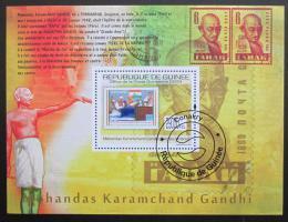 Poštovní známka Guinea 2009 Gandhí na známkách Mi# Bl 1778