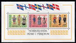 Poštovní známky Faerské ostrovy 1983 Tradièní kostýmy Mi# Block 1