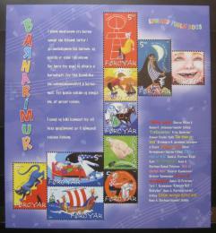 Poštovní známky Faerské ostrovy 2003 Dìtské písnì Mi# 450-59