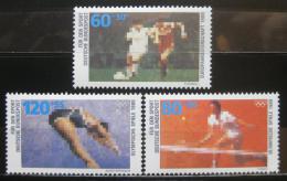 Poštovní známky Nìmecko 1988 Sporty Mi# 1353-55 Kat 8€