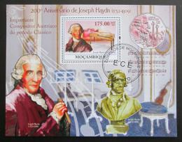 Poštovní známka Mosambik 2009 Joseph Haydn Mi# Block 278