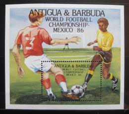 Poštovní známka Antigua 1986 MS ve fotbale Mi# Block 106