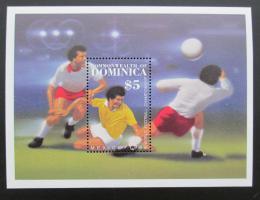 Poštovní známka Dominika 1986 MS ve fotbale Mi# Block 106